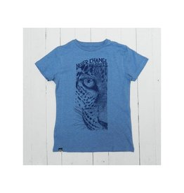 Lion of Leisure T-shirt, blue, leopard (3-16j)