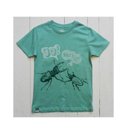 Lion of Leisure T-shirt, green, beetles (3-16j)