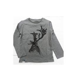 Lion of Leisure Shirt, donkergrijs, hert (0-2j)