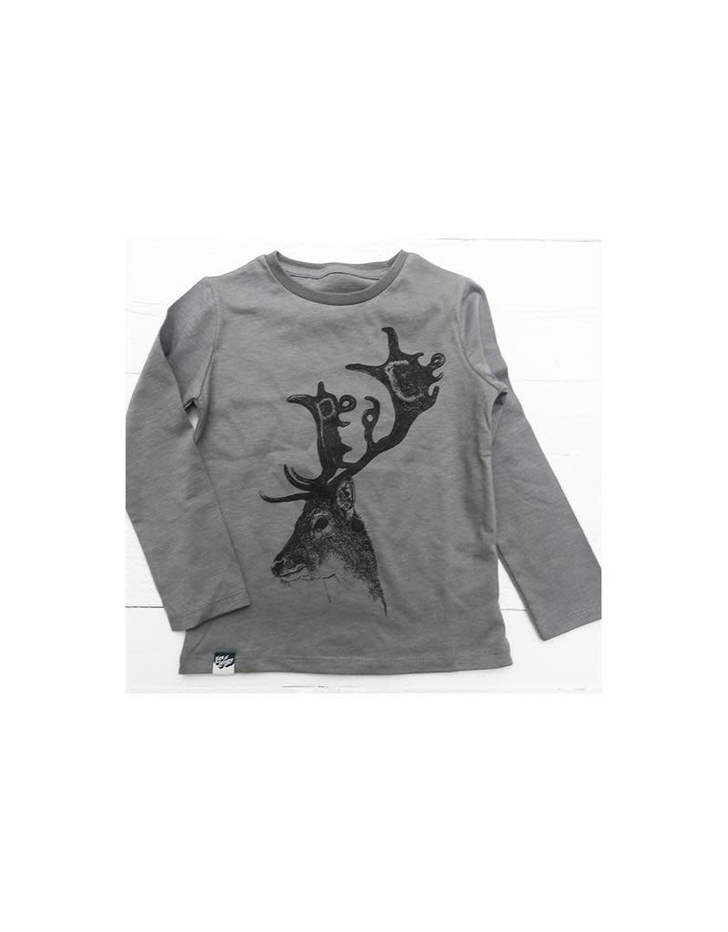 Lion of Leisure Lion of Leisure - shirt, donkergrijs, hert (0-2j)