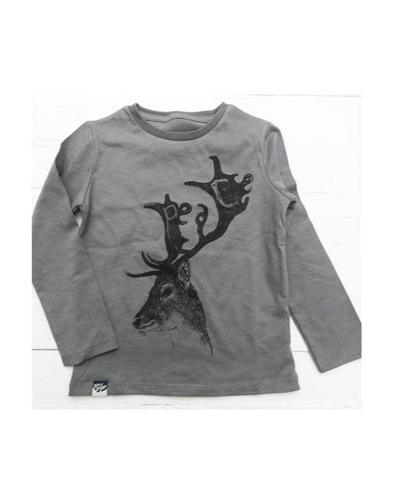 Lion of Leisure Lion of Leisure - shirt, donkergrijs, hert (3-16j)