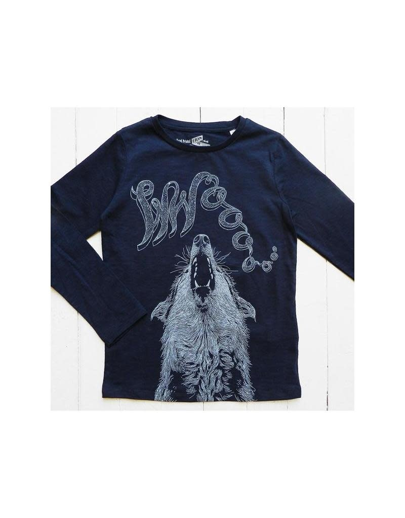 Lion of Leisure Lion of Leisure - shirt, indigo, wolf (3-16j)