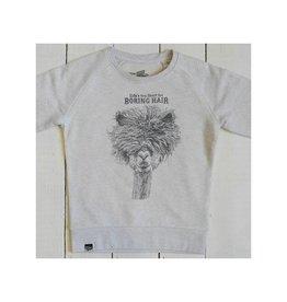 Lion of Leisure Sweater, cream melange, alpaca (3-16j)