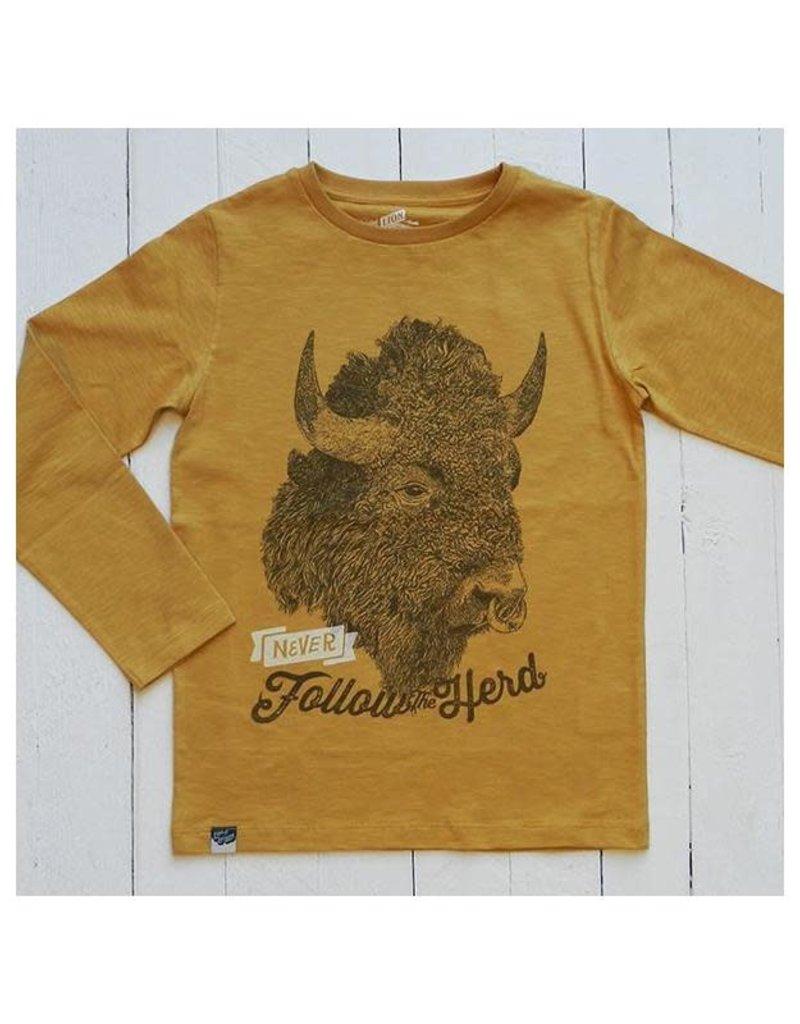 Lion of Leisure Lion of Leisure - shirt, ochre, buffalo (3-16j)