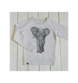 Lion of Leisure Sweater, cream melange, elephant (3-16j)