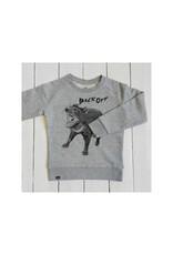 Lion of Leisure Lion of Leisure - sweater, grey melange, tasmanian devil (3-16j)