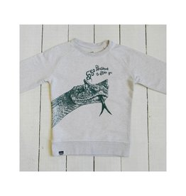Lion of Leisure Sweater, cream melange, snake (3-16j)