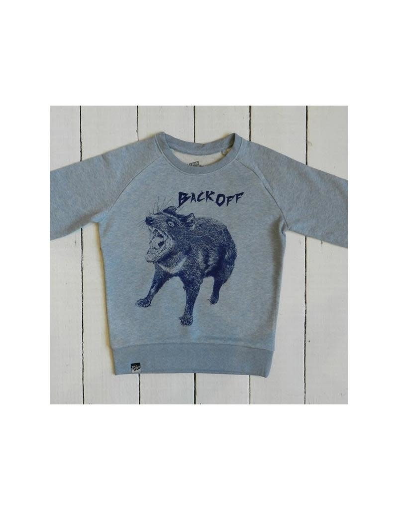 Lion of Leisure Lion of Leisure - sweater, ice blue melange, tasmanian devil (3-16j)