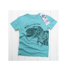 Lion of Leisure T-shirt, aqua, dino (3-16j)