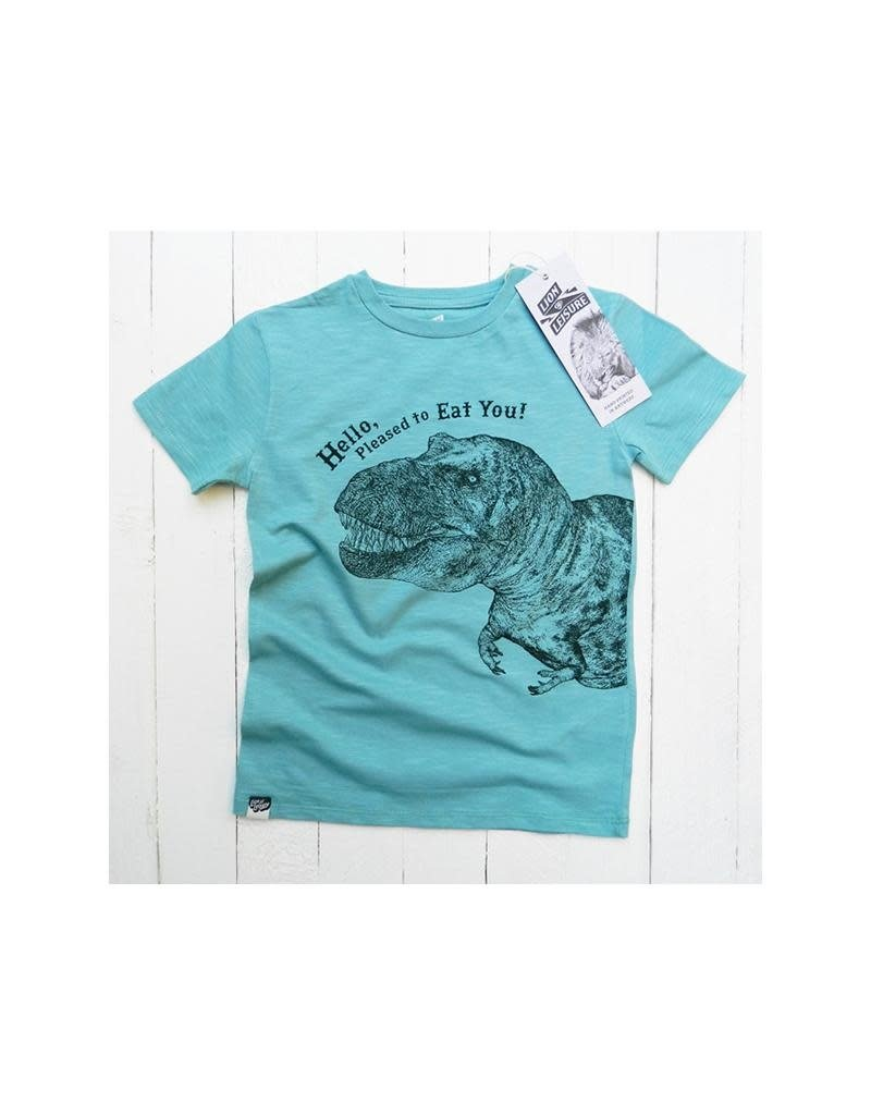 Lion of Leisure Lion of Leisure - T-shirt, aqua, dino (3-16j)