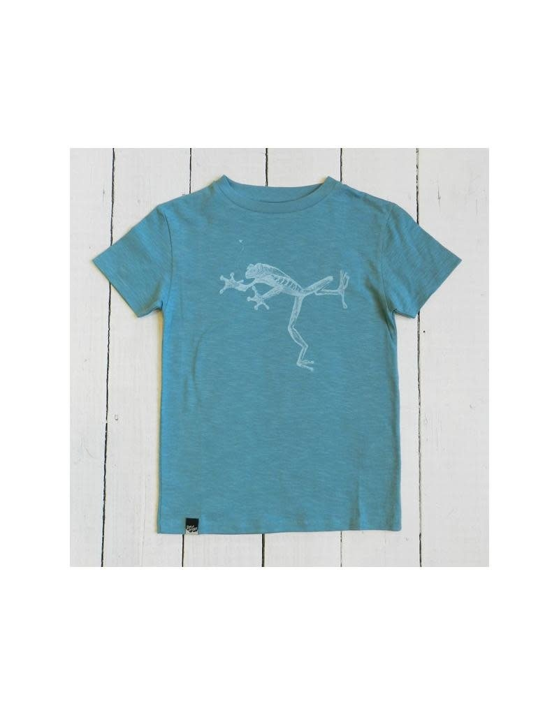 Lion of Leisure Lion of Leisure - T-shirt, aqua, frog (3-16j)