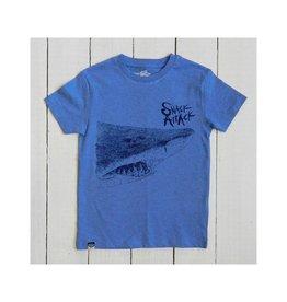 Lion of Leisure T-shirt, blue melange, shark (3-16j)