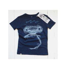 Lion of Leisure T-shirt, donkerblauw, bromvlieg (3-16j)