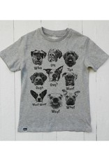 Lion of Leisure Lion of Leisure - T-shirt, grey melange, dogs (3-16j)