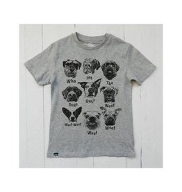 Lion of Leisure T-shirt, grey melange, dogs (3-16j)
