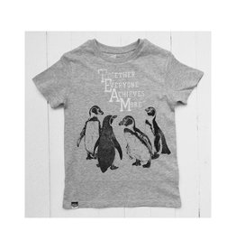 Lion of Leisure T-shirt, grey melange, penguins (3-16j)
