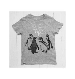 Lion of Leisure T-shirt, grey melange, penguins (3-16j)