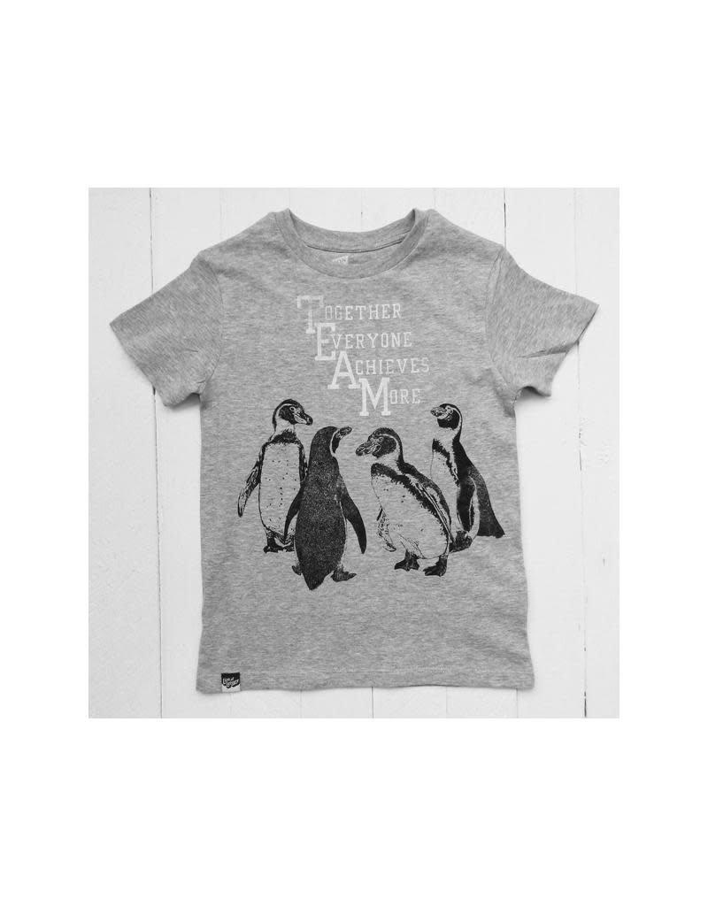 Lion of Leisure Lion of Leisure - T-shirt, grey melange, penguins (3-16j)