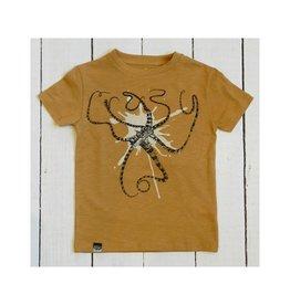 Lion of Leisure T-shirt, ochre, octopus (3-16j)