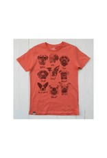 Lion of Leisure Lion of Leisure - T-shirt, red melange, dogs (3-16j)