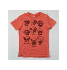Lion of Leisure T-shirt, red melange, dogs (3-16j)
