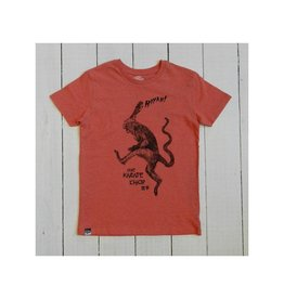 Lion of Leisure T-shirt, red melange, monkey (3-16j)