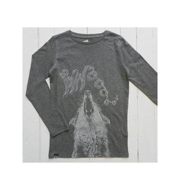 Lion of Leisure Shirt, charcoal, wolf (3-16j)