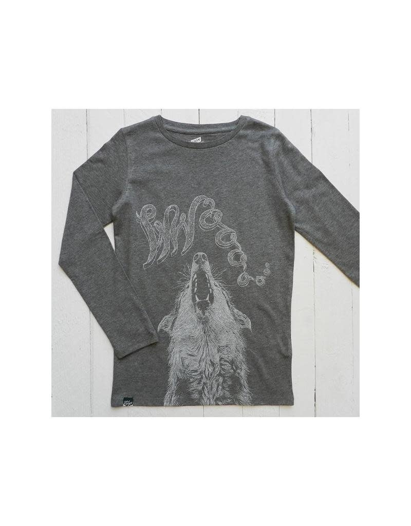 Lion of Leisure Lion of Leisure - shirt, charcoal, wolf (3-16j)