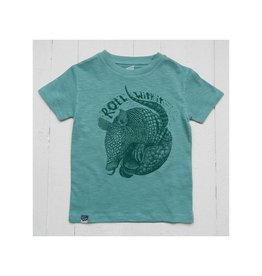 Lion of Leisure T-shirt, aqua, armadillo (3-16j)