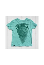 Lion of Leisure Lion of Leisure - T-shirt, green melange, logo lion (3-16j)
