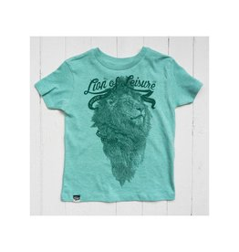 Lion of Leisure T-shirt, green melange, logo lion (3-16j)