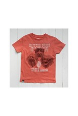 Lion of Leisure Lion of Leisure - T-shirt, red melange, tamarin monkey (3-16j)