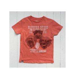 Lion of Leisure T-shirt, red melange, tamarin monkey (3-16j)