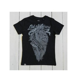 Lion of Leisure T-shirt, charcoal melange, logo lion (3-16j)