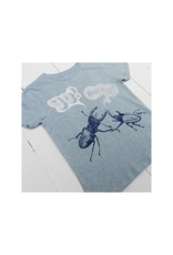 Lion of Leisure Lion of Leisure - T-shirt, ice blue, beetles (3-16j)