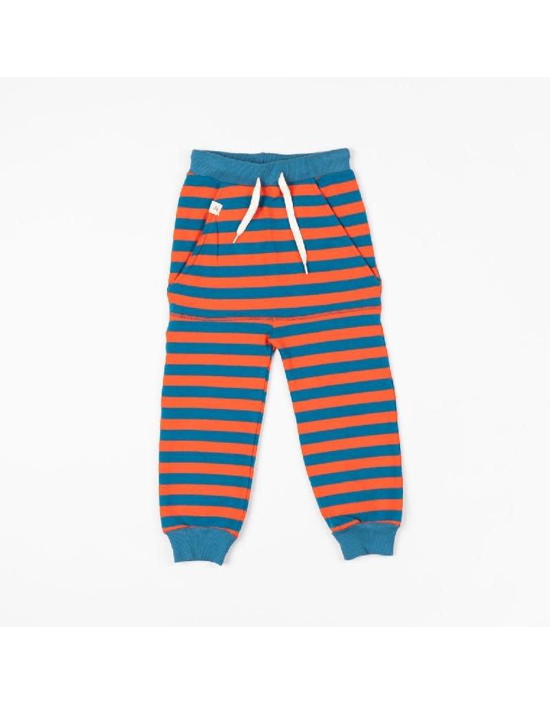 Alba of Denmark Alba of Denmark - Kristoffer pants, spicy orange/magic stripes (3-16j)