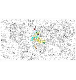 Omy Kleurposter, XXL, 1,8x1m, atlas