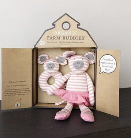 Organic Farm Buddies Ballerina Mouse cadeau Set
