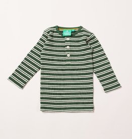 Little Green Radicals Vintage green stripes forever long sleeve tee (3-16j)