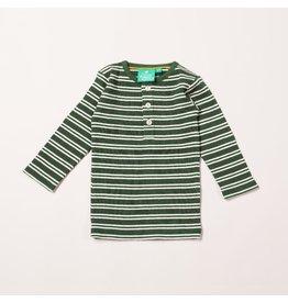 Little Green Radicals Vintage green stripes forever long sleeve tee (3-16j)