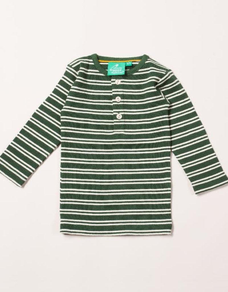 Little Green Radicals Little Green Radicals - vintage green stripes forever long sleeve tee (3-16j)