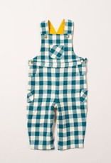Little Green Radicals Little Green Radicals - winter blue check classic dungarees (0-2j)