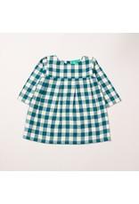 Little Green Radicals Little Green Radicals - winter blue check smock dress (0-2j)