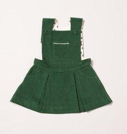 Little Green Radicals Woodland adventure vintage green pinafore dress (3-16j)