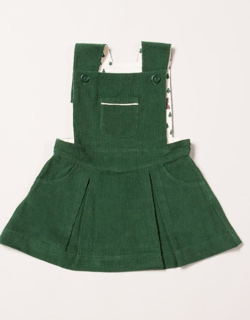 Little Green Radicals Little Green Radicals - woodland adventure vintage green pinafore dress (3-16j)