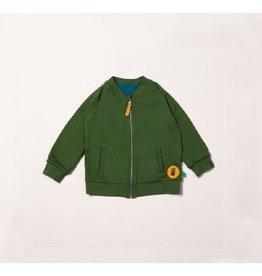 Little Green Radicals Omkeerbare trui met rits, woodland (3-16j)
