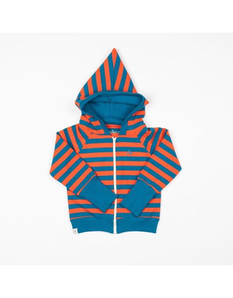 Alba of Denmark Alba of Denmark - Alltime zipper hood, spicy orange/magic stripes (3-16j)