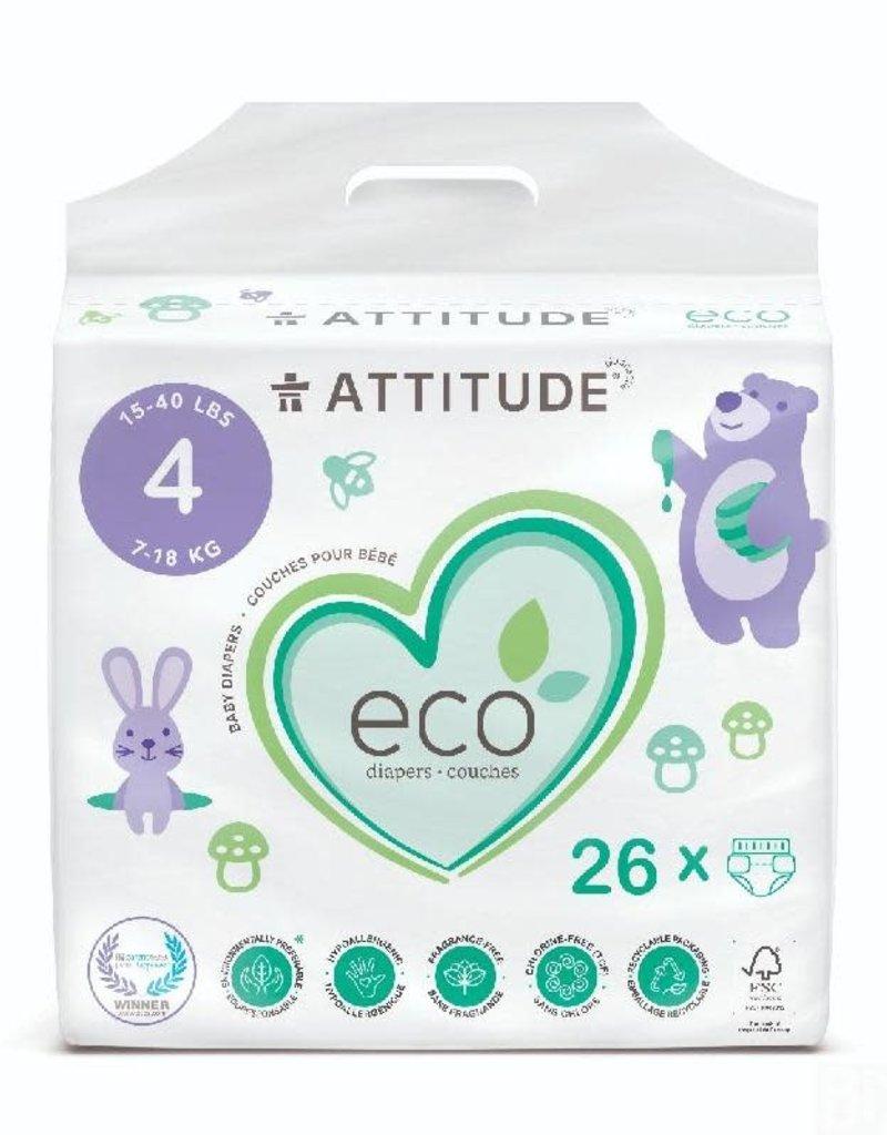 Attitude Attitude - Little Ones eco-wegwerpluier, size 4, 26 stuks, 9-14 kg