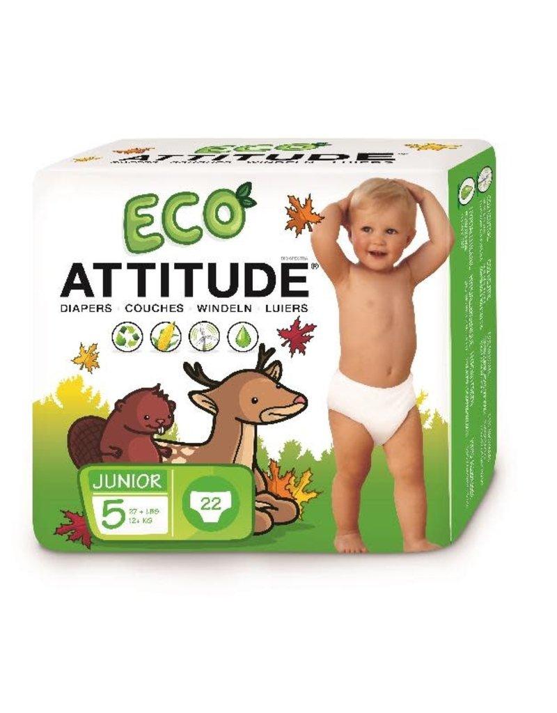 Attitude Attitude - Little Ones eco-wegwerpluier, size 5, 22 stuks, 12+ kg