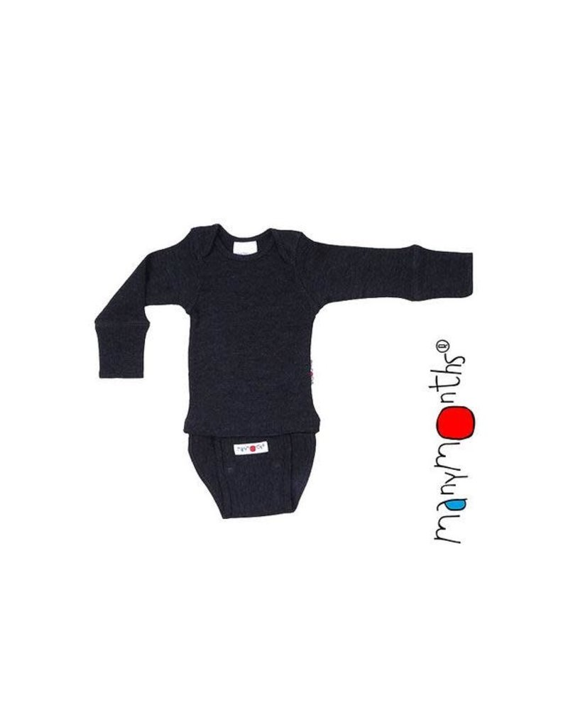 ManyMonths ManyMonths - Body/Shirt Long Sleeve, Foggy Black (0-2j)